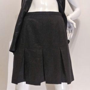 J Crew Merino Wool Pleated Skirt - Size 6